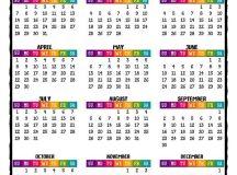 2018 PRINTABLE Caribbean Color Calendar with Bonus 2017 # ...