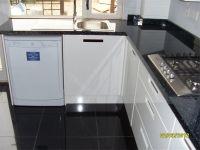 B&Q cooke & lewis range : High gloss black floor tiles ...