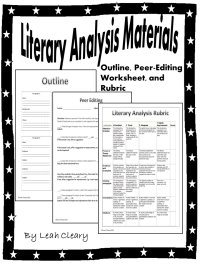 Literary Analysis Handouts | Paragraph, Worksheets and ...