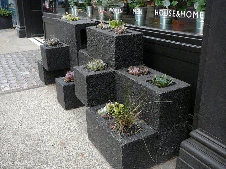 muebles originales para jardn macetas de hormigon