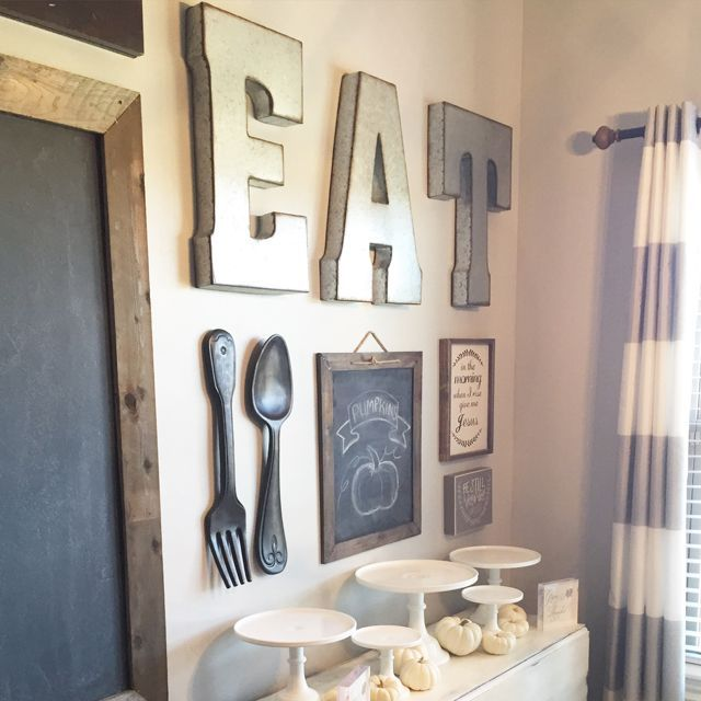 Dining room gallery wall idea feedpuzzle also decorating kitchen rh br pinterest