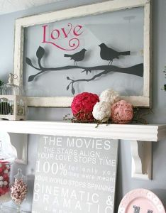 Love the idea of painting on an old window  also painted  picture different types birds pane and it is hanging my back porch frame glass art pinterest rh