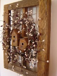 Rustic window with birdhouses - try making your own window ...