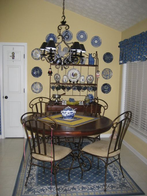 And Blue Yellow Dining Room