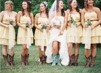 Western Boots With Bridesmaid Dresses | WEDDING DRESSES ...