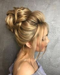 Beautiful Wedding hair bun | Wedding hair buns, Hair buns ...
