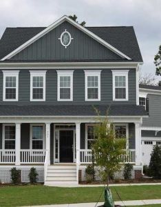 House colors also grey blue new home exterior color white trim is  must rh pinterest