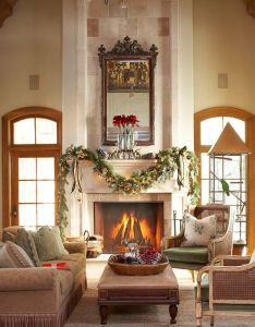 Decorating holiday mantels for the home pinterest traditional homes stone mantel and also rh