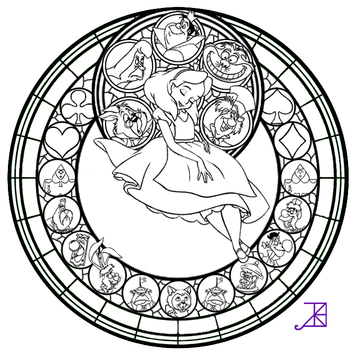 Jack Frost Stained Glass Coloring Page By Akili
