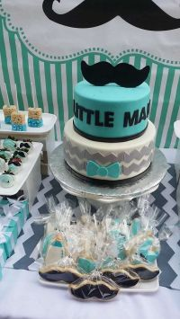 Mustaches / Little Man Baby Shower Party Ideas | Baby ...