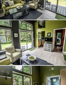 The northwest prefab home from ideabox sq ft ugly outside but inside has nice open space and amazing natural light also jen   fancy rh pinterest