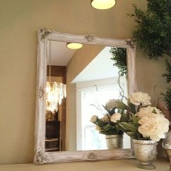 Frames For Living Room Walls Interior Designs Shabby Chic Chalk Paint Mirror, White Ornate Gold Baroque ...