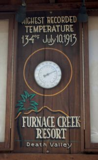 Highest Temperature. The Furnace Creek Resort at July 10 ...