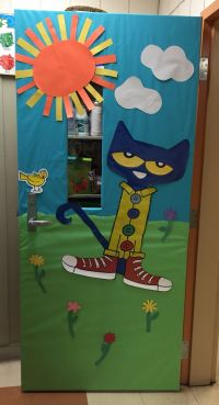 Pete the Cat classroom door decoration | Teaching ...