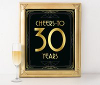 Birthday sign printable - Cheers to 30 years birthday sign ...