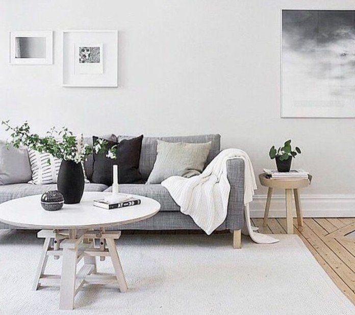 Un salon en gris et blanc cest chic Voil 82 photos qui en tmoignent  Salons and Interiors