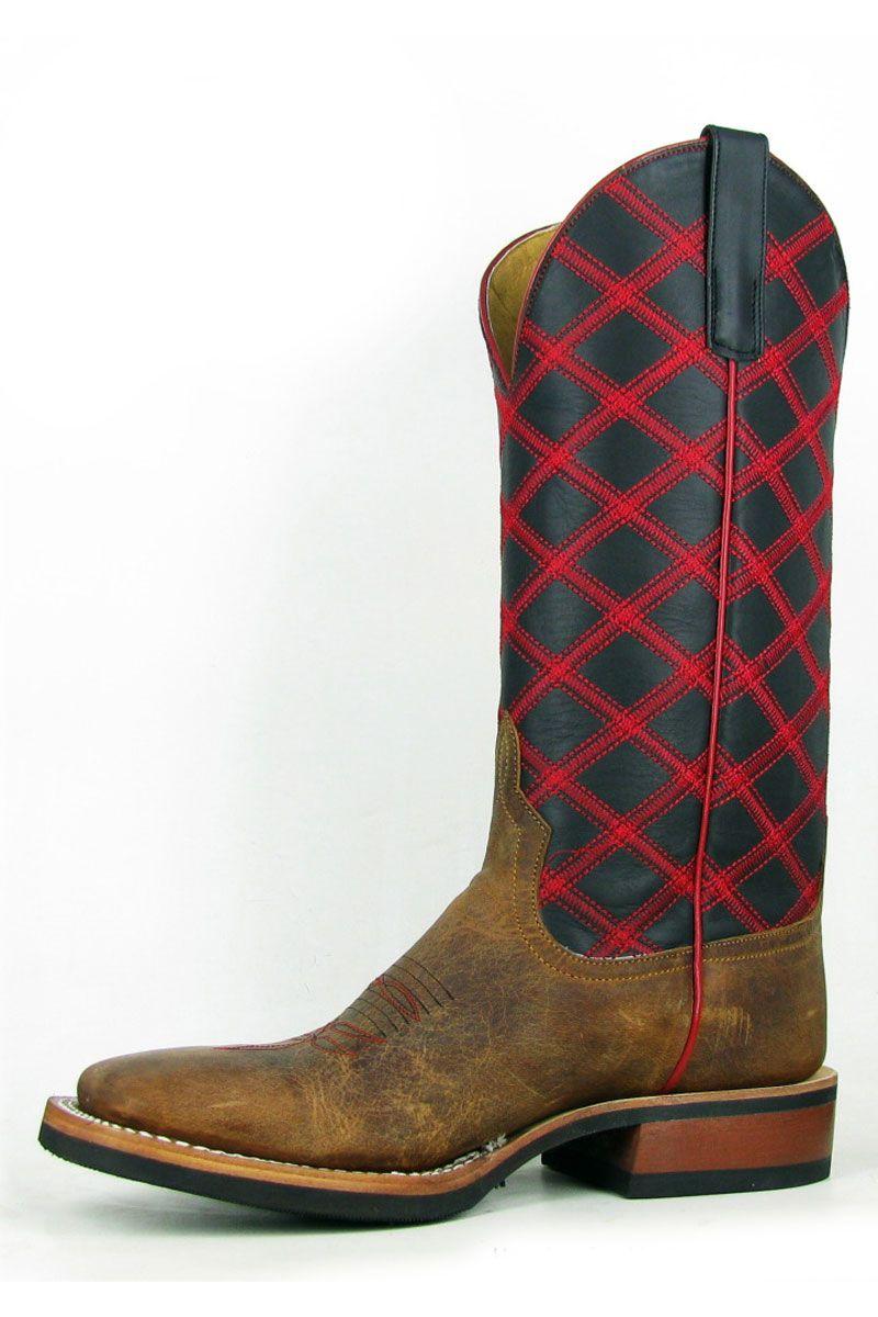 Anderson Bean Mens Black Glove Cowboy Boots at www