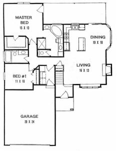 This inviting ranch style home with  small footprint house plan has over sq ft of living space the one story floor includes bedrooms also rh pinterest