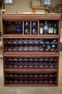 AWESOME -lawyers bookcase repurposed into a wine and ...