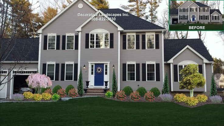 Landscaping For Colonial Style Home Google Search Landscaping