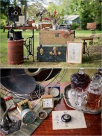 vintage whiskey and guestbook table ideas #guestbooktable ...