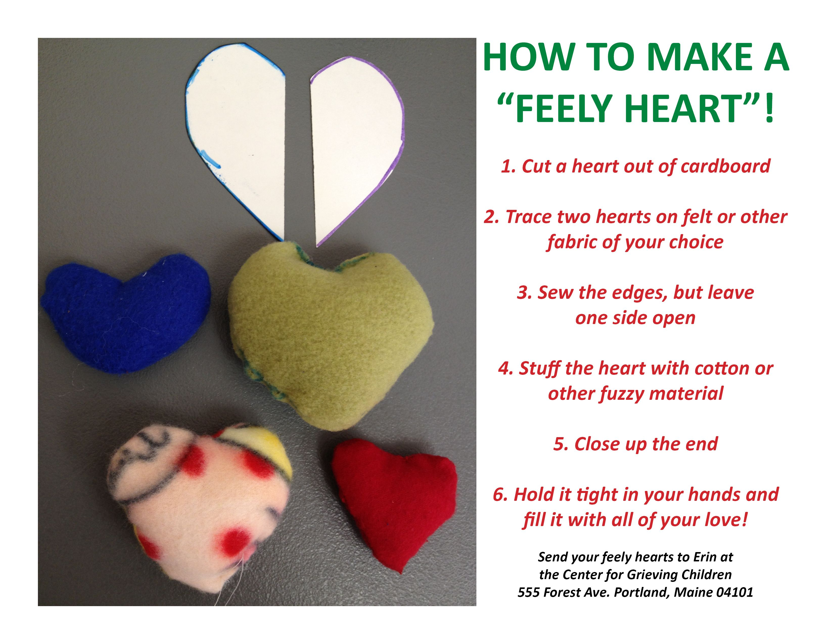 Diy How To Make A Feely Heart At The Center For Grieving