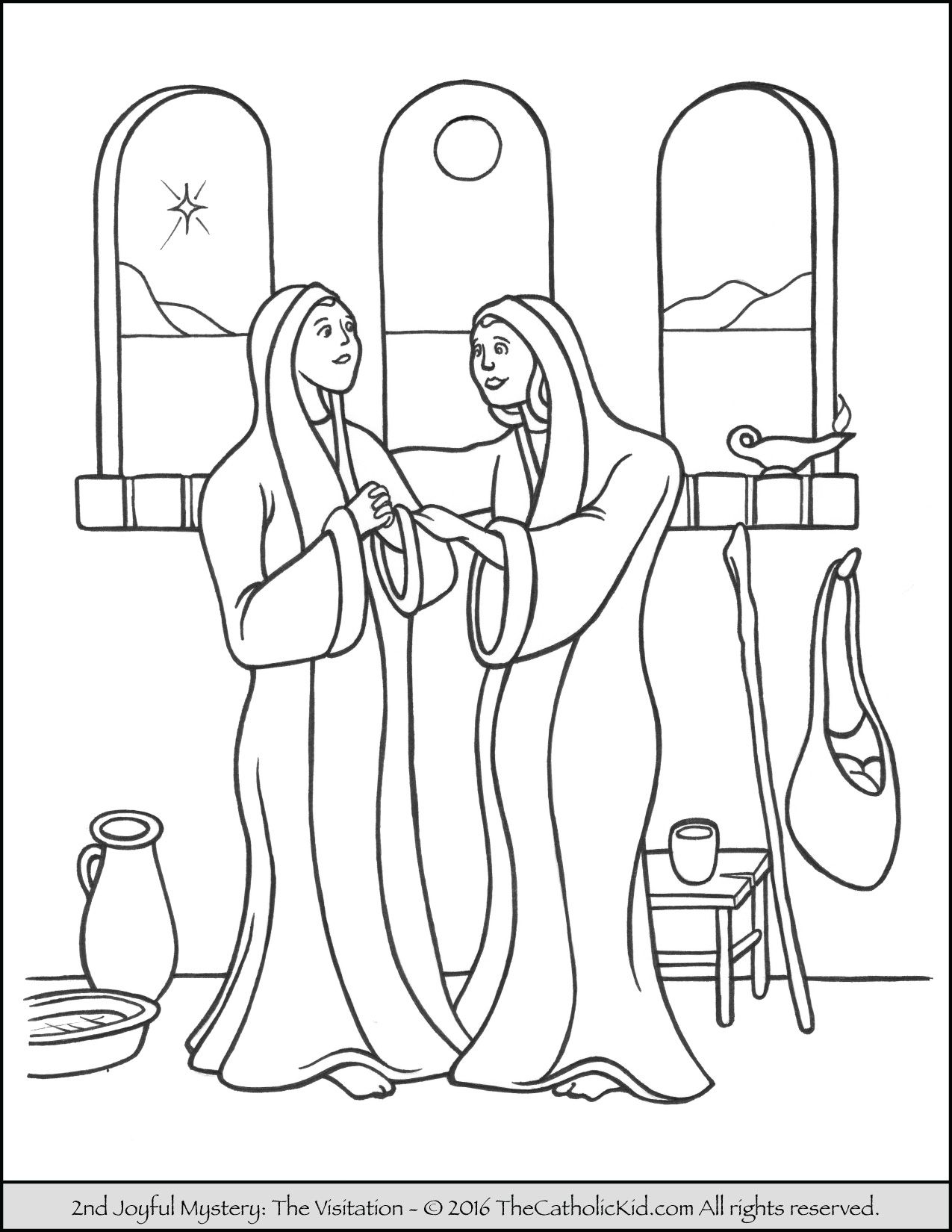 Free Rosary Coloring Pages