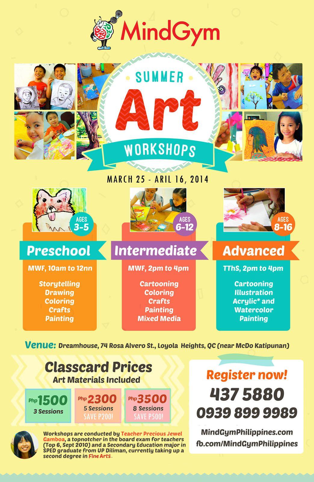 Summer Art Workshops In Katipunan Quezon City Expired