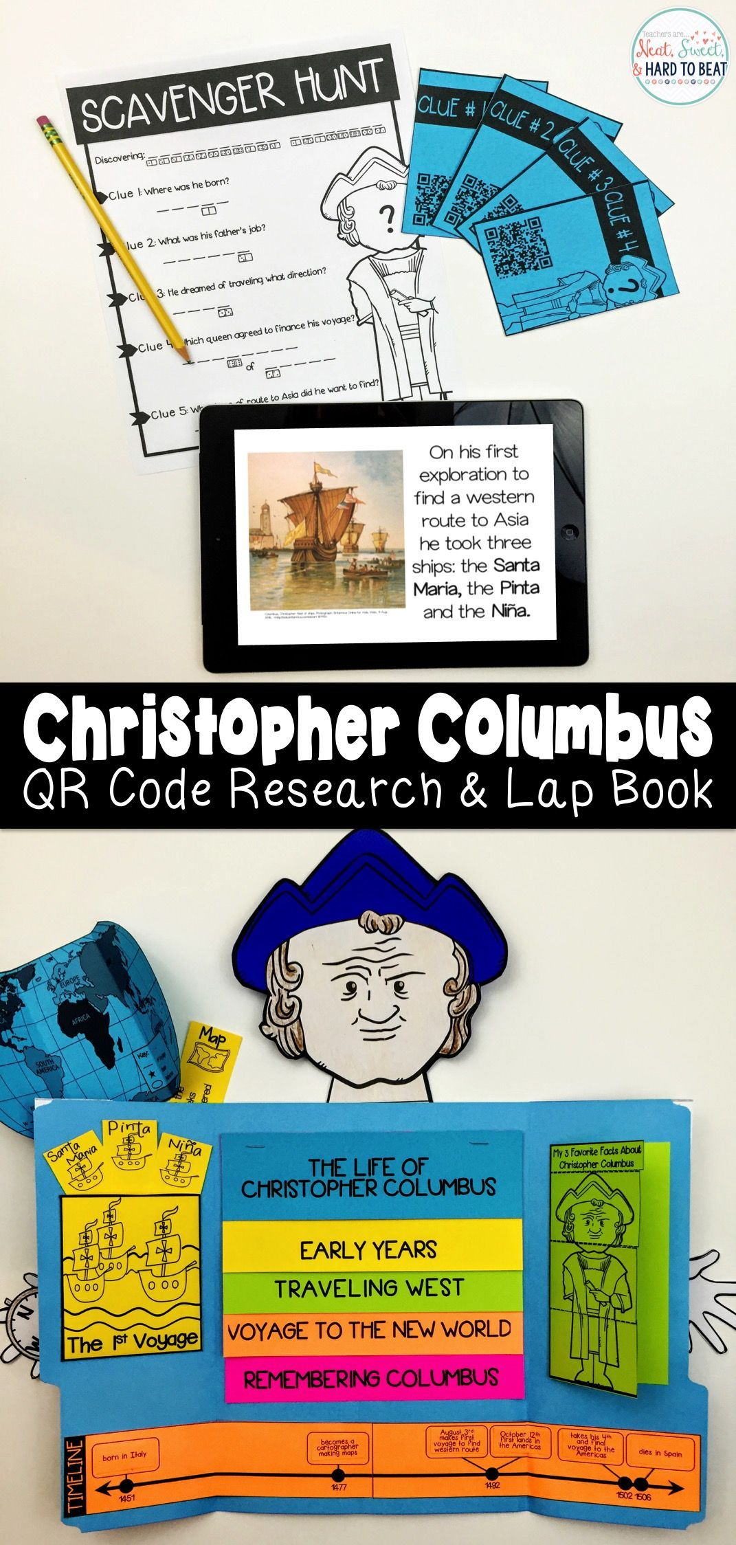 Christopher Columbus Qr Code Scavenger Hunt Amp Research