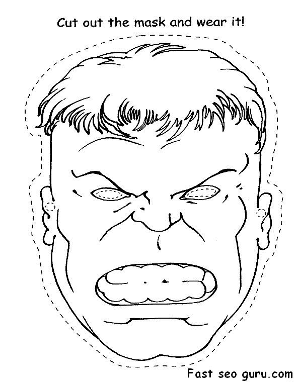 Printable Superheroes Hulk face cut out Coloring pages.jpg