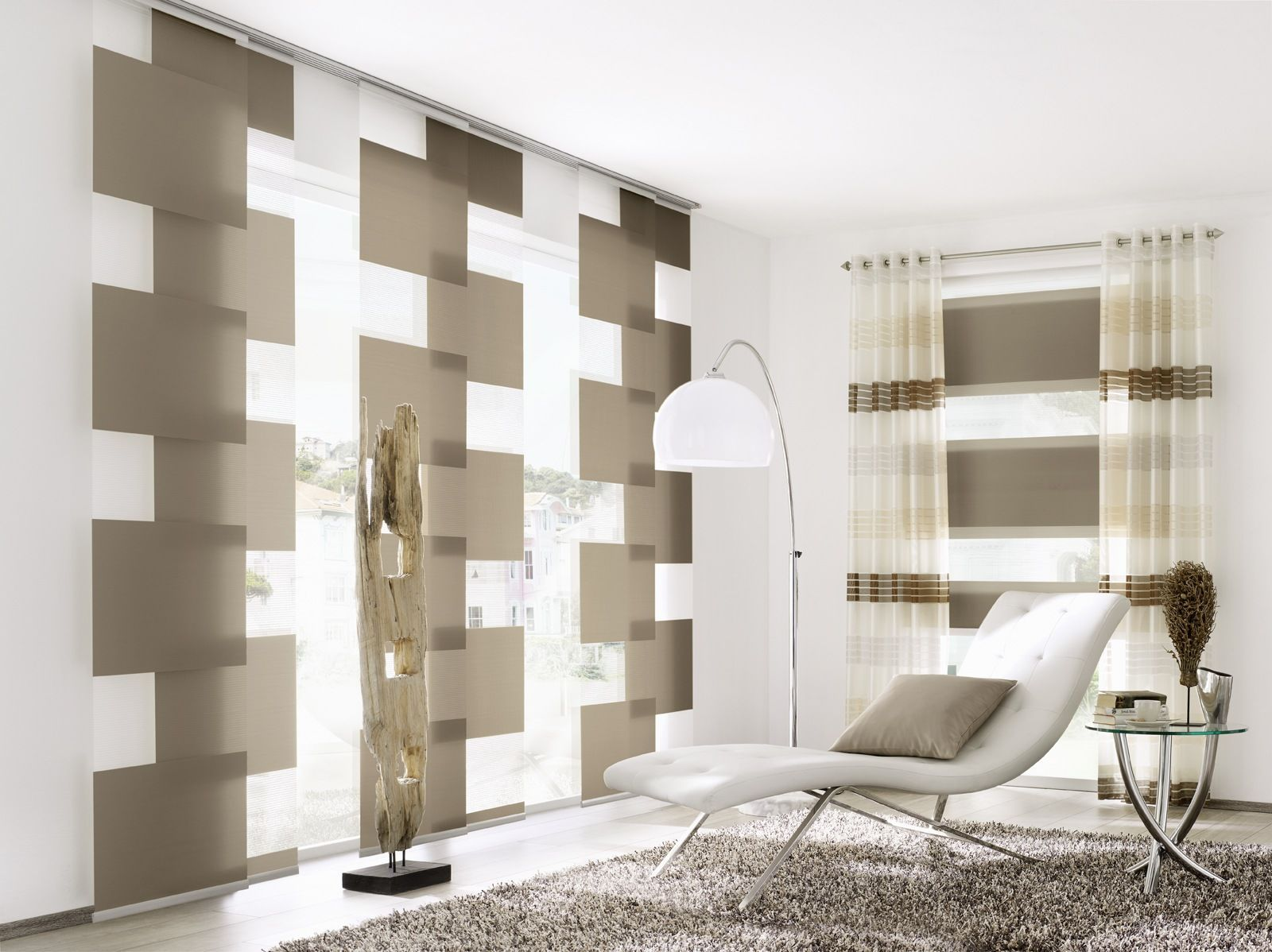 Bildergebnis fr moderne gardinen wohnzimmer  Wohnzimmer