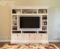 Downright Simple: DIY TV Built In / Wall Unit. This is my ...