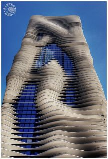 """aqua Building"" In Chicago. 86-story High-rise"