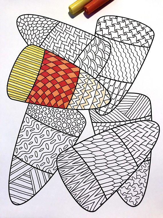candy corn pdf zentangle coloring page  fun halloween