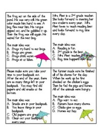 2nd Grade Reading Comprehension Worksheets Main Idea ...
