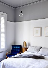 In the main bedroom, walls are in Dulux Natural White ...
