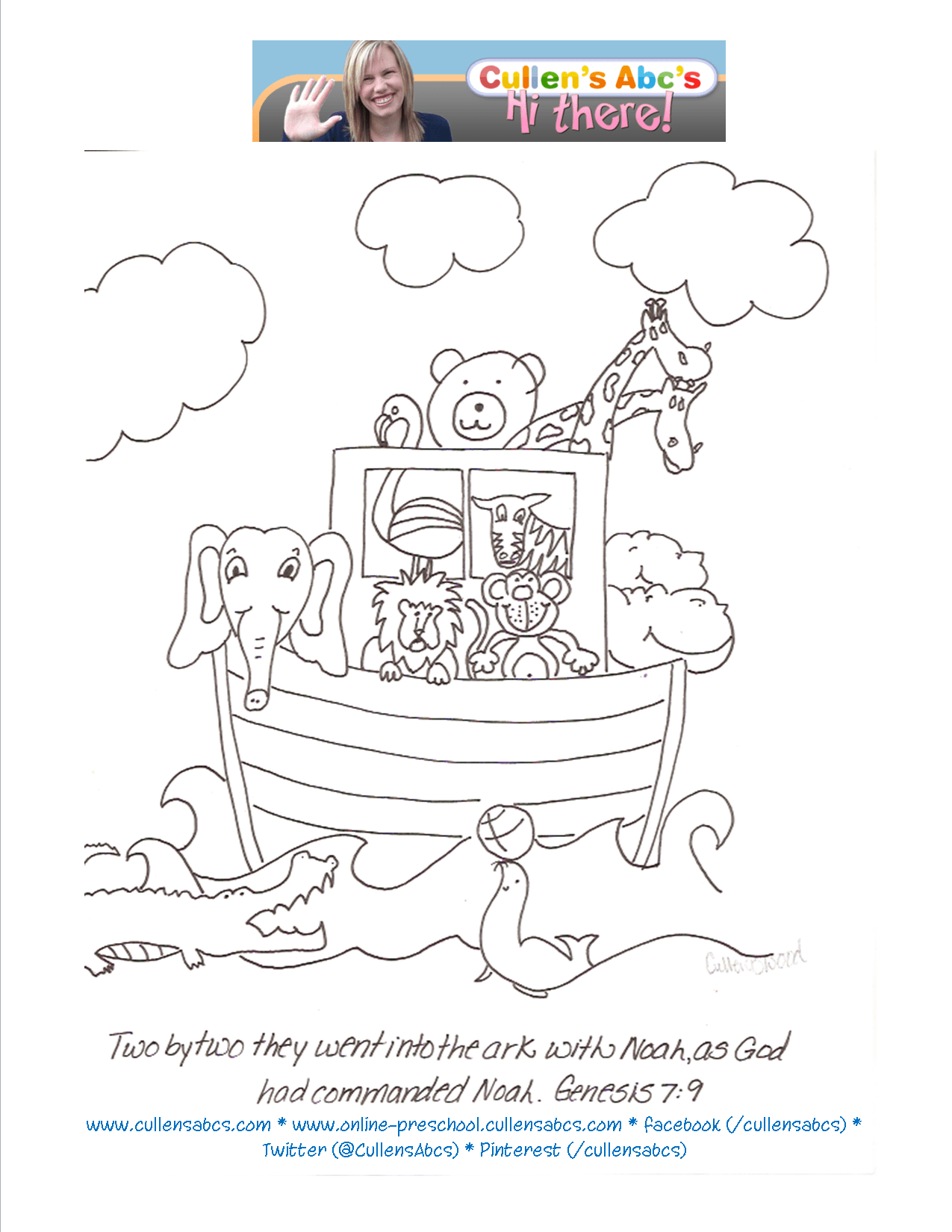 Noah S Ark Coloring Sheet You Can Have Children Color