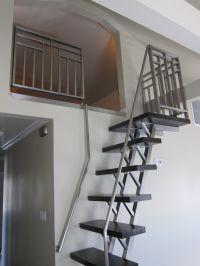 Deco Stainless Steel Loft ladder and ladder, design Warren ...