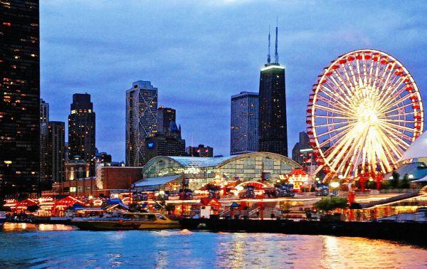 Chicago Skyline Navy Pier