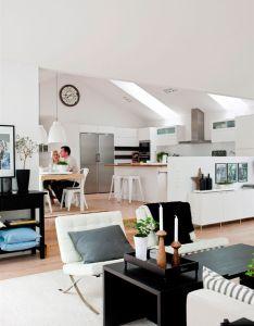White open plan living room interior also rooms pinterest rh