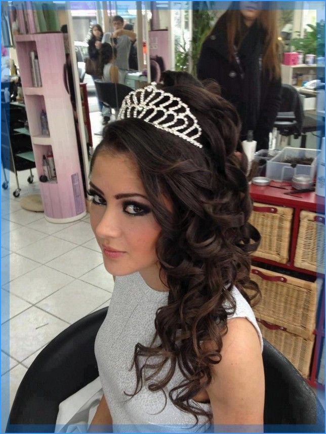 Quinceanera Hairstyles With Tiara Hairstyles Pinterest