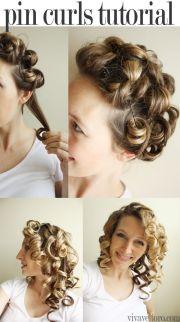 simple pin curls tutorial. cute