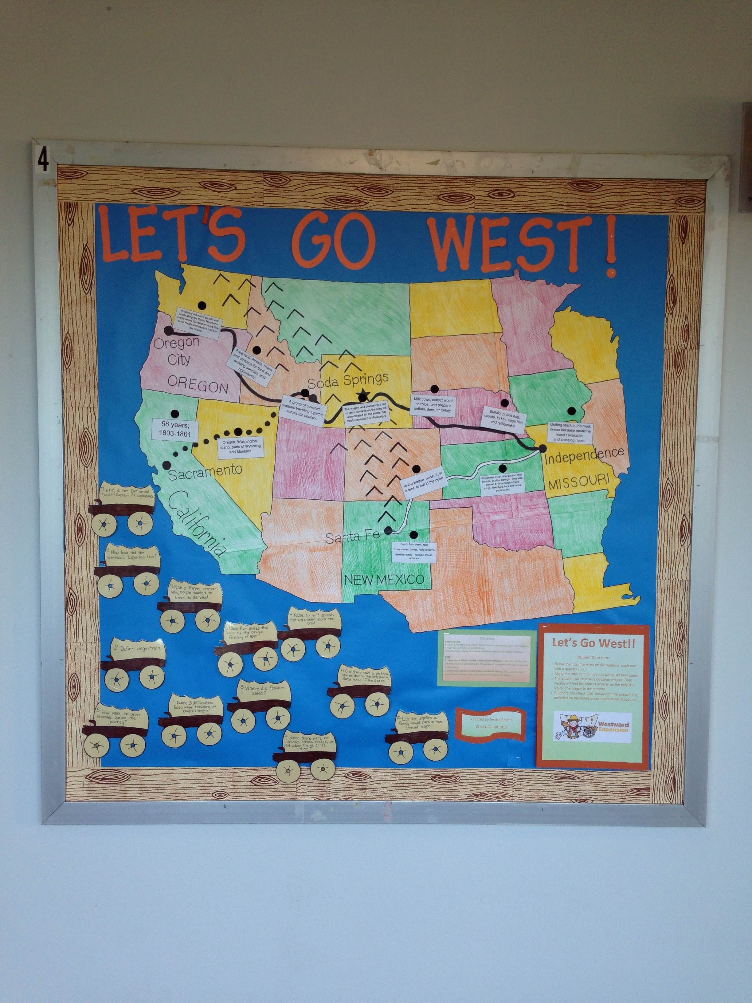 Let S Go West I Created This Interactive Bulletin Board