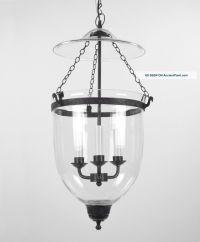 Large Bell Jar Light Chandelier Pendant Lantern Glass ...