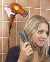 HANDS FREE HAIR DRYER HOLDER - COMPACT FOR HOME AND TRAVEL ...