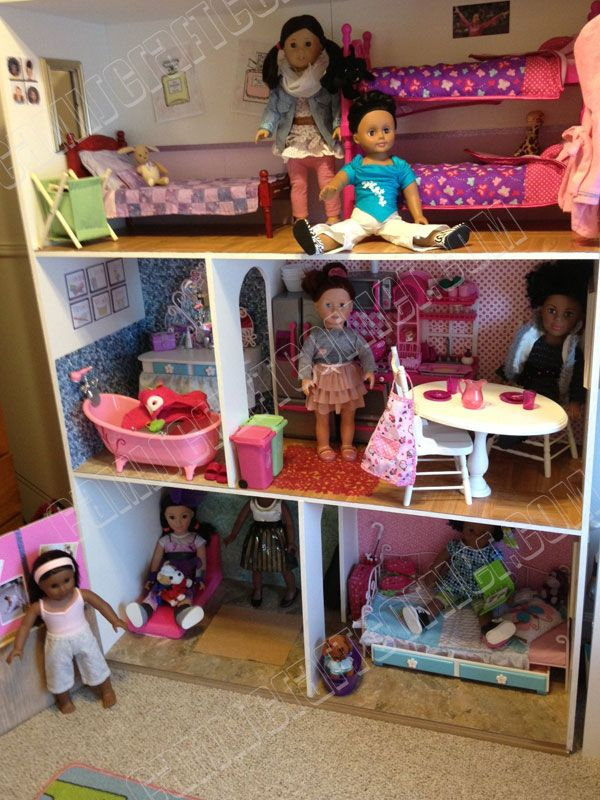 "American Girl Dollhouse DIY For 150 18"" Doll Room Furniture Free"