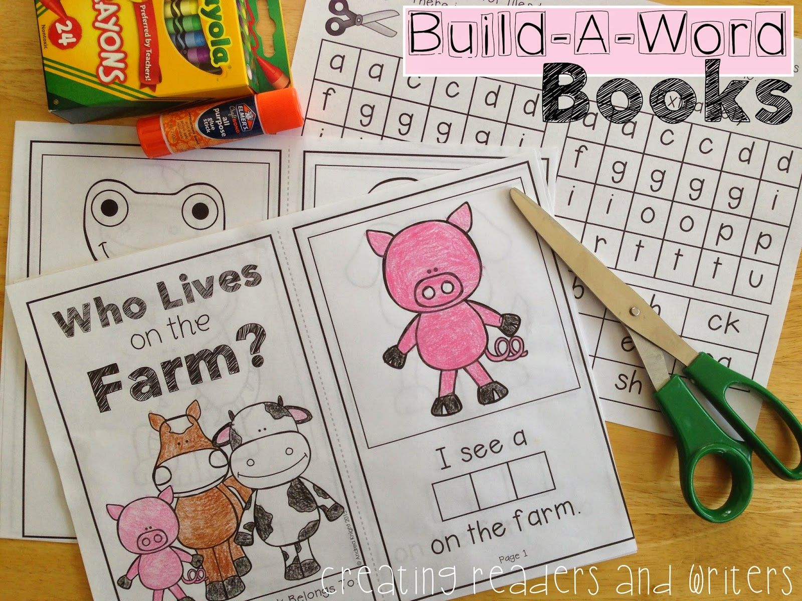 Creating Readers And Writers Build A Word Books Practice