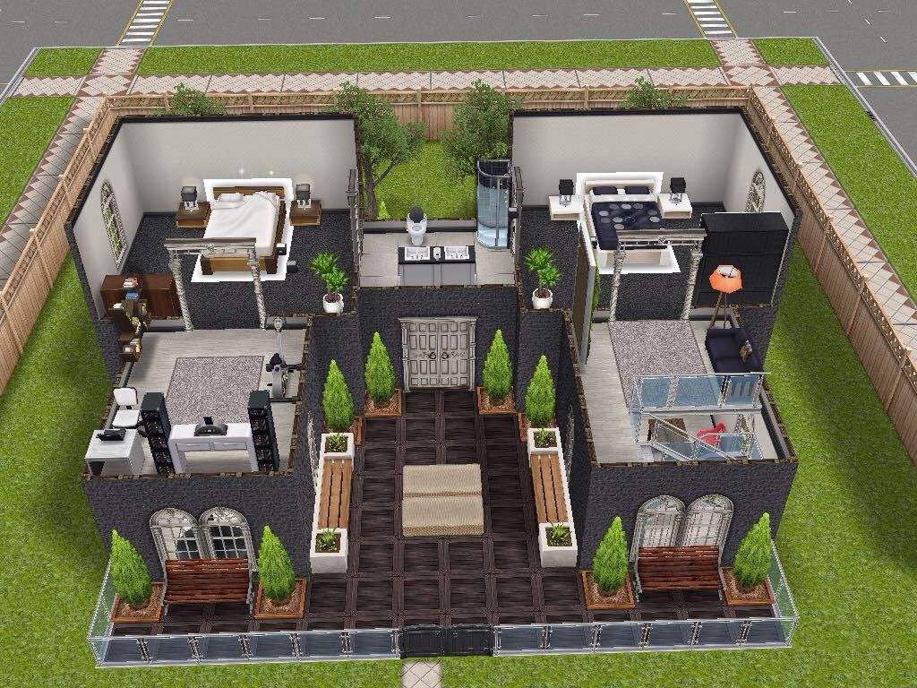 House 2 Level 2 #sims #simsfreeplay #simshousedesign My Sims