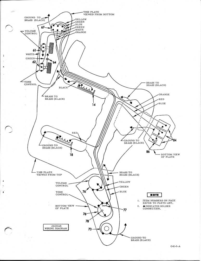 Fender Jaguar / Jazzmaster Wiring Diagram http://www