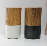 Charming Natural Wood Stump Side Table and wood stump ...